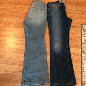 Gap long and lean button fly jeans size 10